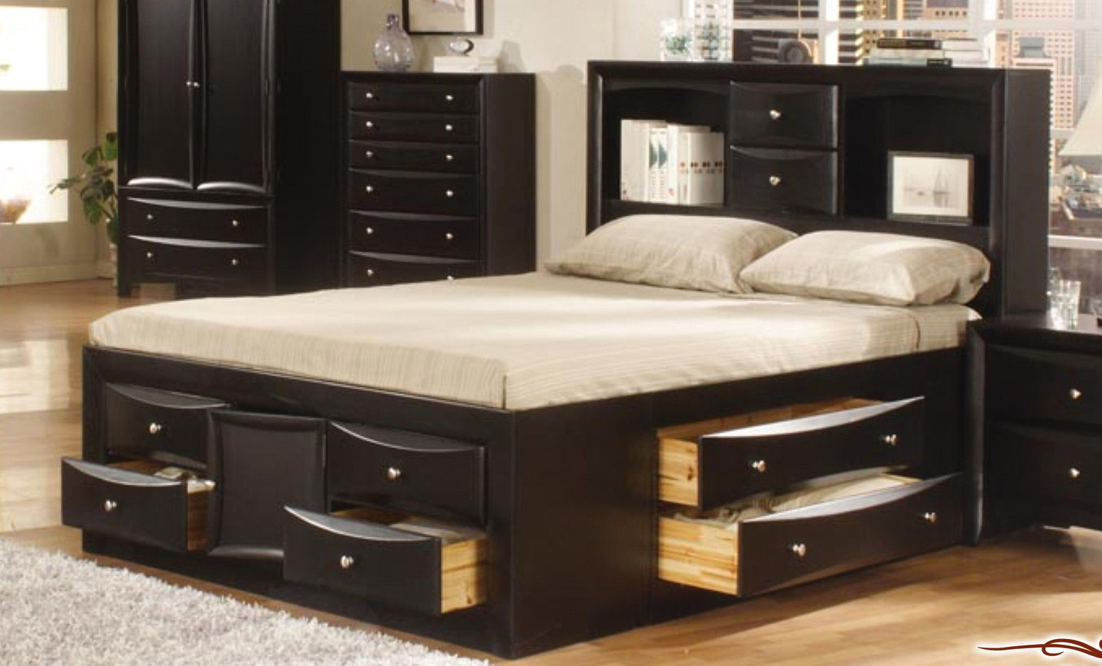 king size bedroom sets with storage set with storage bed by